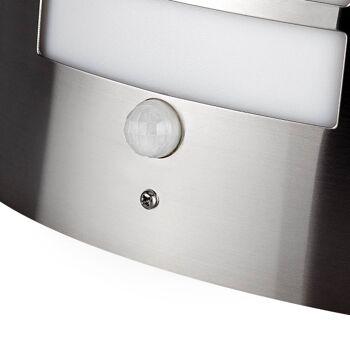 10x Edelstahl Wandleuchte Außenlampe Aussenleuchte mit Bewegungsmelder E27 ohne Leuchtmittel