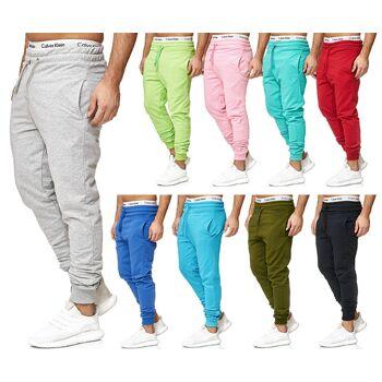 Herren Trend Basic Sporthose Uni Freizeit Hose Trainingshose Jogginghose Sport Fitness Gym Slim Fit Sweatpants - 8,90 Euro