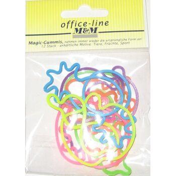 12-9050795, Magic-Gummis 12er Pack, Armbänder, Modeschmuck