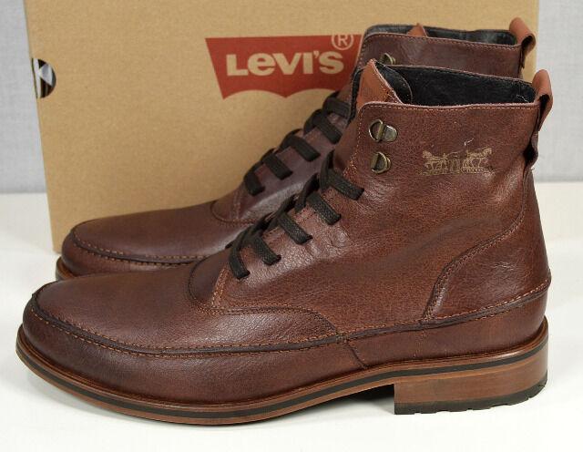 Leder Levis 10121504 Herren Stiefel Braun Schuhe Tu1JK3lFc