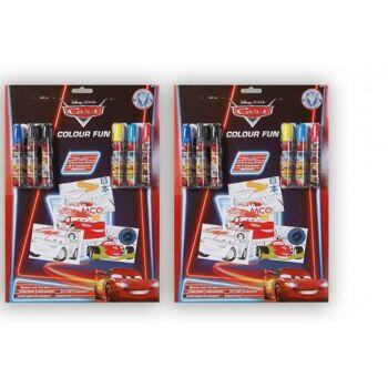 31-200489, Disney Colour FUN Set mit 6 Malstiften und Malvorlagen, Filzstifte, SONDERPOSTEN PAZ 1,99