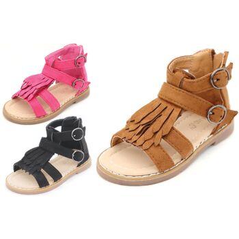 Kinder Baby Mädchen Sandale Sandalette Größen 19-36 Slipper Schuh nur 9,90 Euro