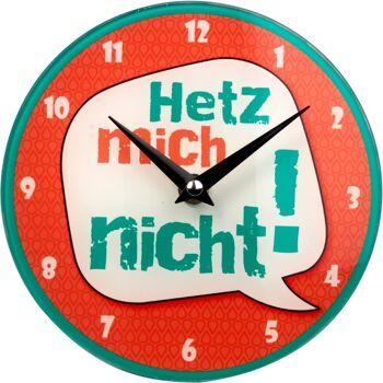 28-463701, Wanduhr Quartzuhr, mit Sprüchen, Gilde Glas Uhr zum Hängen und Stellen