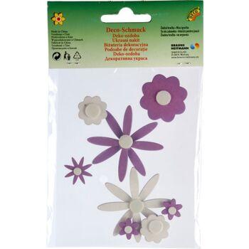 28-610873, Brauns-Heitmann Sticker Blumen aus Holz, 8er Set
