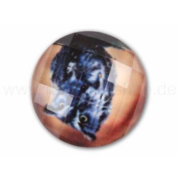 A-ch06 Chunk Button Design: Facettenschliff Eule Farbe: braun schwarz blau