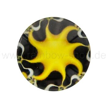 A-ch212 Chunk Button Design: Sonne Farbe: gelb schwarz