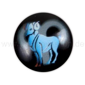 A-ch362 Chunk Button Design: Sternzeichen Widder Farbe: schwarz türkis
