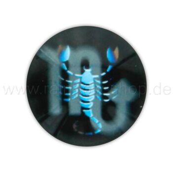 A-ch369 Chunk Button Design: Sternzeichen Skorpion Farbe: schwarz türkis