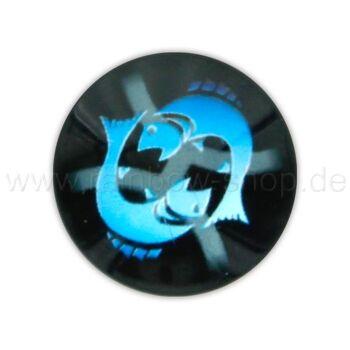 A-ch373 Chunk Button Design: Sternzeichen Fische Farbe: schwarz türkis