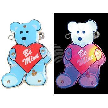 BL-027 Blinki Blinker blau rot Bärchen mit Herz