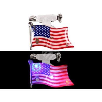 BL-105 Blinki Blinker rot weiss blau Flagge USA