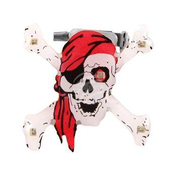 BL-169 Blinki Blinker weiss rot Totenkopf Pirat