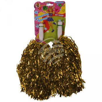 CP-03 Pompoms Cheerleading gold ca. 36 cm 2 Pompoms in einer Packung