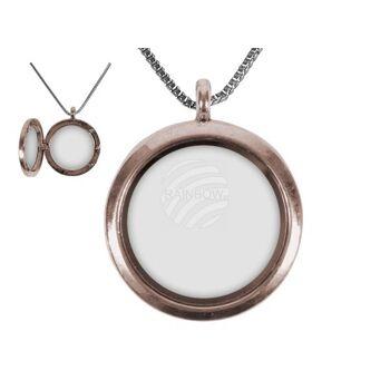 DK-23 Flying Charms Kette & Medaillon für Inlay Bronze Kreis