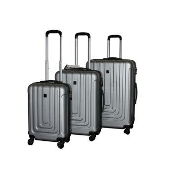 ecolle Kofferset 3 tlg. silber