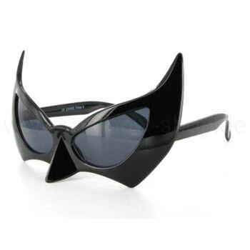 F-019 Fun Party Brille Form: Fledermaus Farbe: schwarz