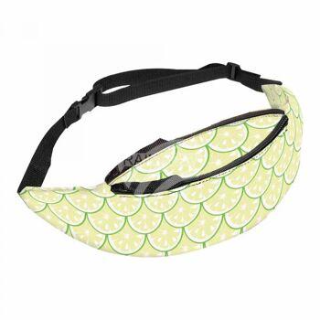 GT-268 Gürteltasche Hipbag Limetten Obst fruchtig gelb grün 3 Reißverschlüsse, verstärkte Innentaschen