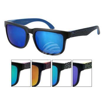 K-125 VIPER Kinder Sonnenbrille Vintage Retro Marmorierung am Bügel