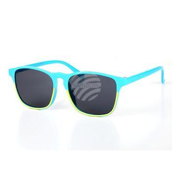 K-89 Sonnenbrille für Kinder Form: Vintage Retro, Fassung zweifarbig Farbe: Farbsortierung