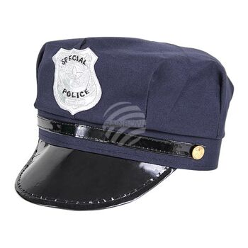 KH-176 Karnevalshut Hut Karneval Fasching Mütze schwarz grau blau One Size Unisize Einheitsgröße