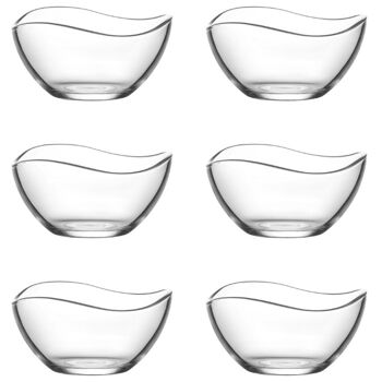 LAV 6tlg Glasschalen 215 ml Vira  Schalen Glasschale