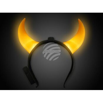 LH-thl05 LED Leuchthaarreifen orange Motiv: lange Teufelshörner