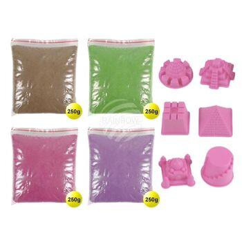 MG-04 Magischer Sand Sandformen Sand multicolor, Formen rosa ca. 1000g
