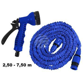 MS-01 Magischer Gartenschlauch Schlauch blau ca. 2,50 m - 7,50 m