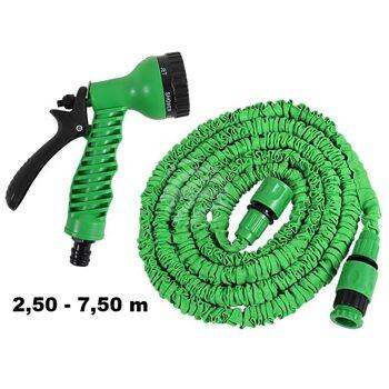 MS-02 Magischer Gartenschlauch Schlauch grün ca. 2,50 m - 7,50 m