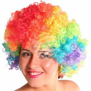 PA-m09 Afro Perücke mehrfarbig rainbow regenbogen