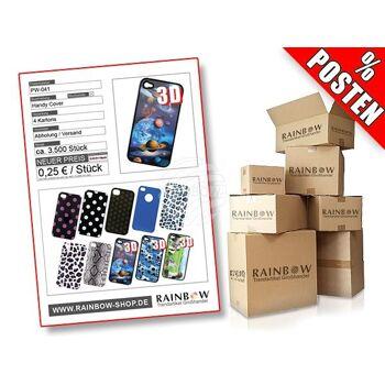 PW-041 Posten mit ca. 3600 Stück Cover verschiedener Modelle für Smartphone