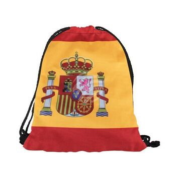 RU-SP Gymbag, Gymsac Design: Spanien Farbe: rot, gelb