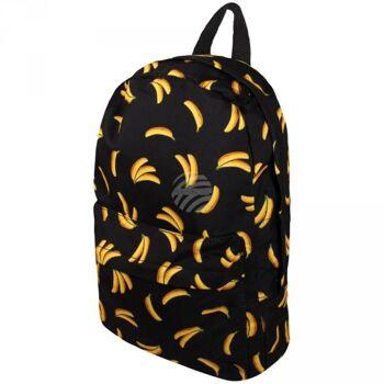 RUCK-a031 Hochwertiger Rucksack Bananen schwarz