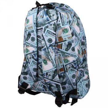 RUCK-a040 Hochwertiger Rucksack 100 Dollar weiss