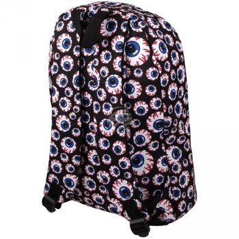 RUCK-a041 Hochwertiger Rucksack Augen schwarz