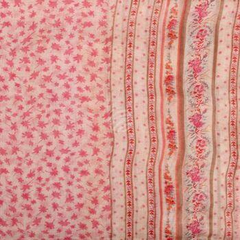 SCH-1317d Damen Loop Schal Retro Floral rosa rot braun