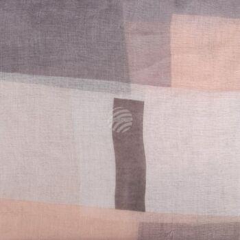 SCH-1353a Damen Loop Schal Geometrische Formen braun beige grau