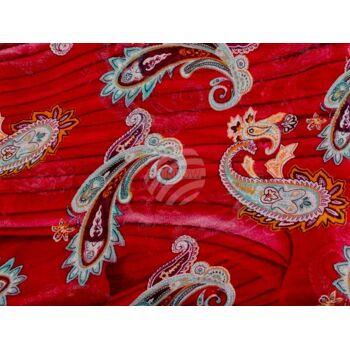 SCH-815a Damen Loop Schal Paisley Muster rot
