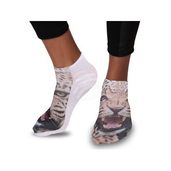 SO-15 Motiv Socken Design:Leopard Farbe: photorealistisch