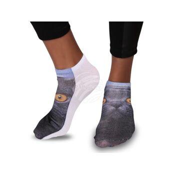 SO-21 Motiv Socken Design:Katze Farbe: schwarz, gelb