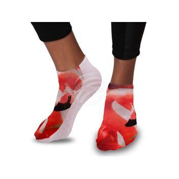 SO-37 Motiv Socken Design:Flamingo Farbe: rosa