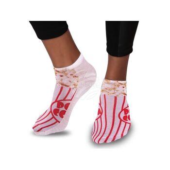 SO-82 Motiv Socken Design:Popcorn Farbe: rot, beige