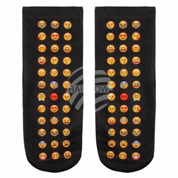 SO-L025 Motiv Socken Emoticons Emotikons mehrfarbig