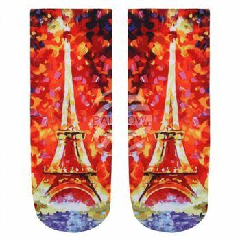 SO-L030 Motiv Socken Eiffelturm multicolor