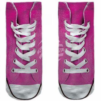 SO-L113 Motiv Socken rosa weiß Schuhe lässig