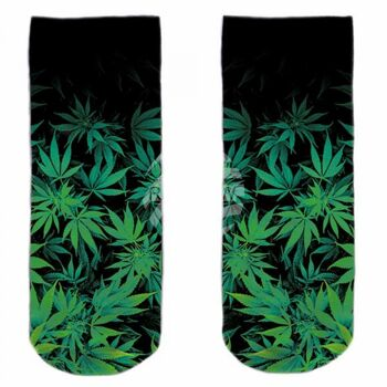 SO-L117 Motiv Socken multicolor Hanf floral