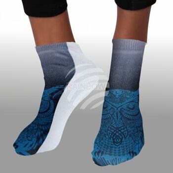 SO-L215 Motiv Socken multicolor Eule