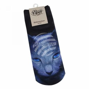 SO-L235 Motiv Socken blau weiß Hip Hop Dogge