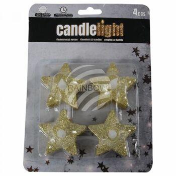 TL-06 LED Teelichter Kerzen Stern gold unisize