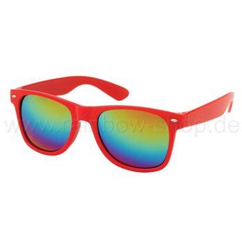 V-1003 VIPER Damen und Herren Sonnenbrille Form: Vintage Retro Farbe: rot und weiß Sortierung